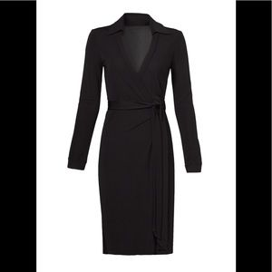 Diane Von Fustenberg Black Wrap Dress